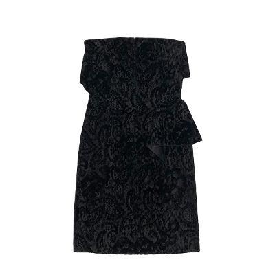 ruffle lace bustier dress black